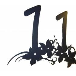 Edelstahl Hausnummer Flora